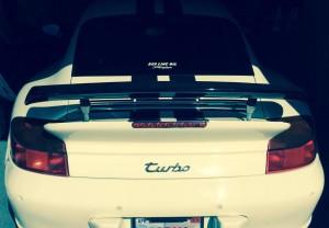 Steve white 996 TT with 4 in eRam Kit - Aftermarket Wing