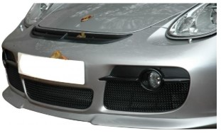 CAYMAN 987.1 - BLACK FRONT GRILLS - 3 PC. SET (MANUAL AND TIPTRONIC)